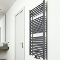 Sanigoods Inola handdoek radiator 110x60cm zwart 540Watt