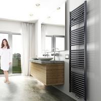 Sanigoods Inola handdoek radiator 160x60cm zwart 700Watt