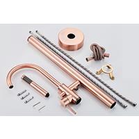 saniclear Copper vrijstaande badkraan geborsteld koper