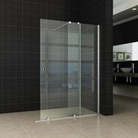 Aqua Splash Verleng-Inloopdouche 100X200 cm Op Rail 10 mm Nano Glas