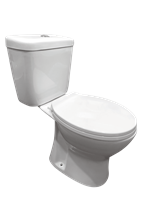 Badstuber Roma duoblok staand toilet randloos compleet PK