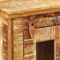 vidaXL Wandkast 44x21x72 cm massief gerecycled hout