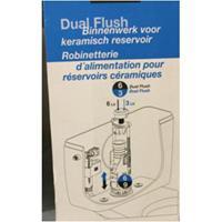 AquaVive universeel spoelmechanisme dualflush keramisch reservoir