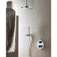Hotbath IBS 1A Get Together inbouw doucheset Buddy - chroom - met staafhanddouche - 25cm hoofddouche - met plafondbuis 15cm - zonder glijstang