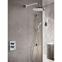 Hotbath IBS 2A Get Together inbouw doucheset Laddy vierkant - chroom - met staafhanddouche - 25cm hoofddouche - met wandarm - met glijstang
