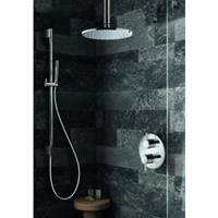Hotbath IBS 1A Get Together inbouw doucheset Buddy - chroom - met staafhanddouche - 25cm hoofddouche - met plafondbuis 15cm - met glijstang