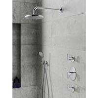 Hotbath IBS 5 Get Together inbouw doucheset Friendo chroom - met ronde 3-standen handdouche - wandarm - hoofddouche 25cm - wandsteun