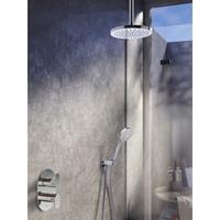 Hotbath IBS 5A complete thermostatische douche inbouwset Friendo met 2 weg stop omstel chroom 3 standen handdouche met plafondbuis 15cm diameter douchekop 25cm IBS5ACR-3s-P15-M105