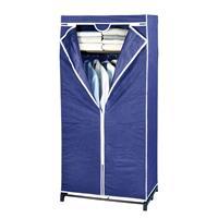 Wenko gaderobekast draagbaar 160 cm polypropyleen marineblauw