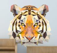 tenstickers Muurstickers slaapkamer prisma tijger