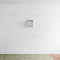 zaro Lagom volledig naadloos solid surface nis 30cm mat zwart geschikt voor in of opbouw.