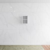 zaro Lagom volledig naadloos solid surface nis 45cm mat wit geschikt voor in of opbouw.