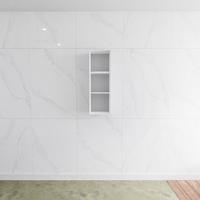 zaro Lagom volledig naadloos solid surface nis 90cm mat wit geschikt voor in of opbouw.