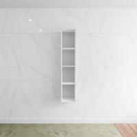 zaro Lagom volledig naadloos solid surface nis 150cm mat wit geschikt voor in of opbouw.