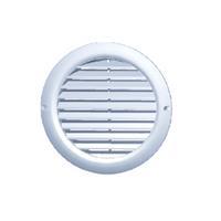 Plieger ventilatierooster kunststof met gaas aansl. ø125 mm ø160 mm, wit