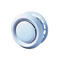 Plieger afzuigventiel kunststof afsluitbaar met klemring aansl. ø100 mm ø148 mm, wit