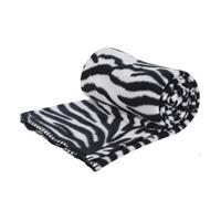 Fleece deken zebra print 130 x 160 cm Multi