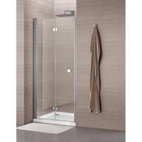 Royal Plaza Clever vouwdeur 90x195cm chroom profiel helder glas met Clean coating 55866
