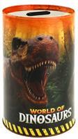Toi-Toys Toi Toys spaarpot World of Dinosaurs 15 x 10 cm bruin/oranje