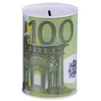 Spaarpot 100 euro biljet 8 x 11 cm - Spaarpotten