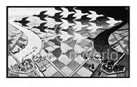 PGM M. C. Escher - Tag und Nacht Kunstdruk 86x55cm