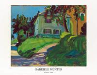 PGM Gabriele Münter - Sommer 1908 Haus mit Apfelbaum Kunstdruk 90x70cm