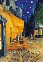 PGM Vincent Van Gogh - Café-Terrasse am Abend Kunstdruk 21x29.7cm