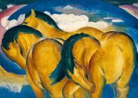 PGM Franz Marc - Die kleinen gelben Pferde Kunstdruk 29.7x21cm