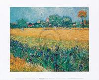 PGM Vincent Van Gogh - Vista di Arles Con Irises Kunstdruk 30x24cm
