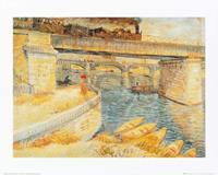 PGM Vincent Van Gogh - Il ponte di Asnieres Kunstdruk 50x40cm