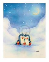 PGM Makiko - Little Penguins Kunstdruk 24x30cm
