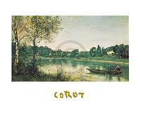PGM J.B.C. Corot - L'étang de ville d'Avray Kunstdruk 30x24cm