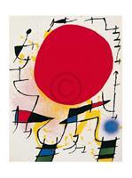 PGM Joan Miro - Le soleil rouge Kunstdruk 40x50cm