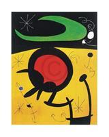 PGM Joan Miro - Vuelo de pajaros Kunstdruk 40x50cm