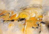 PGM Isolde Folger - Giallo II Kunstdruk 100x70cm