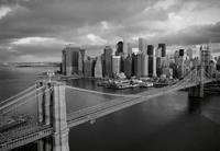 Papermoon Brooklyn Bridge Zwart Wit Vlies Fotobehang 350x260cm