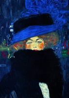 PGM Gustav Klimt - Lady with Hat Kunstdruk 50x70cm