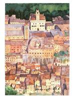 PGM Ralf Westphal - Mittelalterliche Bergstadt Montepulciano, Toskana Kunstdruk 30x40cm