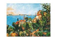 PGM Paul Cézanne - La Mer a l'Estaque Kunstdruk 30x30cm