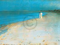 PGM Peter Severin Krøyer - Summer evening Kunstdruk 80x60cm