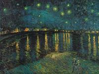 PGM Vincent Van Gogh - Notte stellata Kunstdruk 80x60cm