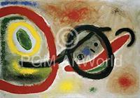 PGM Joan Miro - Femme III Kunstdruk 80x60cm