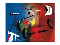 PGM Joan Miro - Peinture Kunstdruk 80x60cm