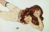 PGM Egon Schiele - Nudo di ragazza Kunstdruk 90x60cm