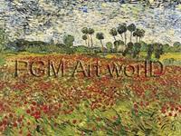 PGM Vincent Van Gogh - Field of Poppies Kunstdruk 80x60cm