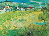 PGM Vincent Van Gogh - Sonnige Wiese bei Auvers, 1890 Kunstdruk 80x60cm