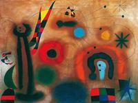 PGM Joan Miro - Libelle mit roten Flügeln Kunstdruk 80x60cm