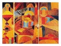 PGM Paul Klee - Il giardino del tempio Kunstdruk 80x60cm