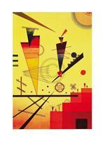PGM Wassily Kandinsky - Structure joyeuse Kunstdruk 60x80cm