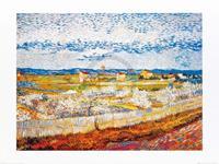 PGM Vincent Van Gogh - Pesco in fiore Kunstdruk 80x60cm